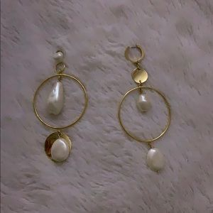 kate spade pearl hoop earnings